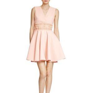 MaJe Peach Racine Embroidered-Waist Dress